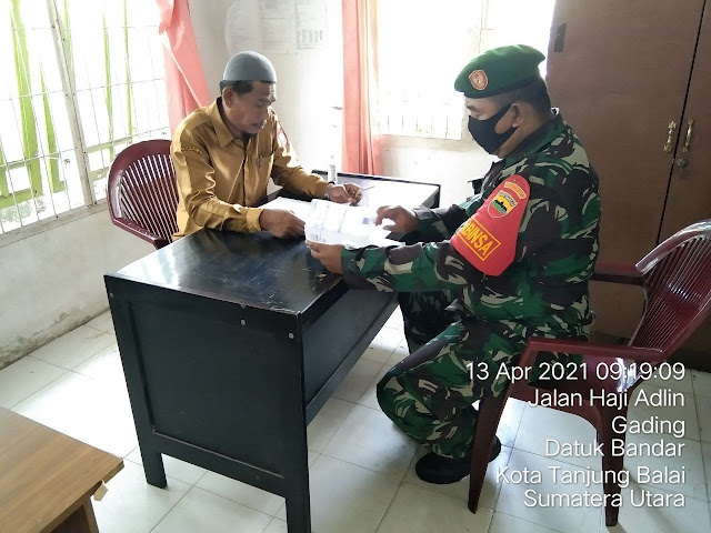 Perbarui Data Wilayah, Personel Jajaran Kodim 0208/Asahan Laksanakan Pul Data Ter di Kantor Kelurahan