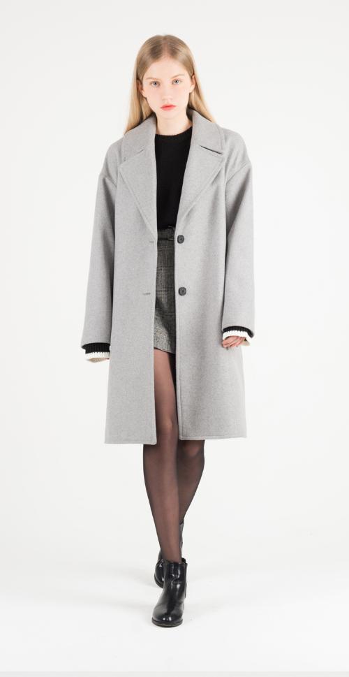 Woolen Knee-Length Coat