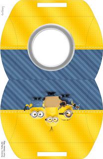 Caja almohada para imprimir gratis de Película de los Minions
