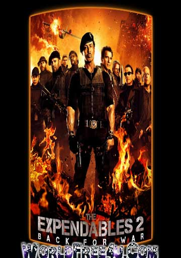 Poster Of The Expendables 2 In Dual Audio Hindi English 300MB Compressed Small Size Pc Movie Free Download Only At worldfree4u.com