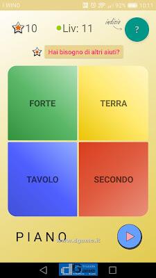 4 Parole soluzione livello 11