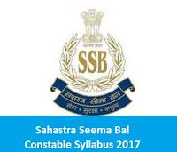 Sashastra Seema Bal Constable Syllabus