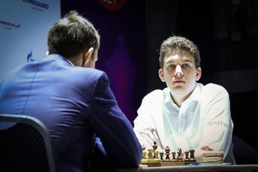 La partie Karjakin vs Duda en finale de la coupe du monde, une nulle de salon en 17 coups - Photo © FIDE