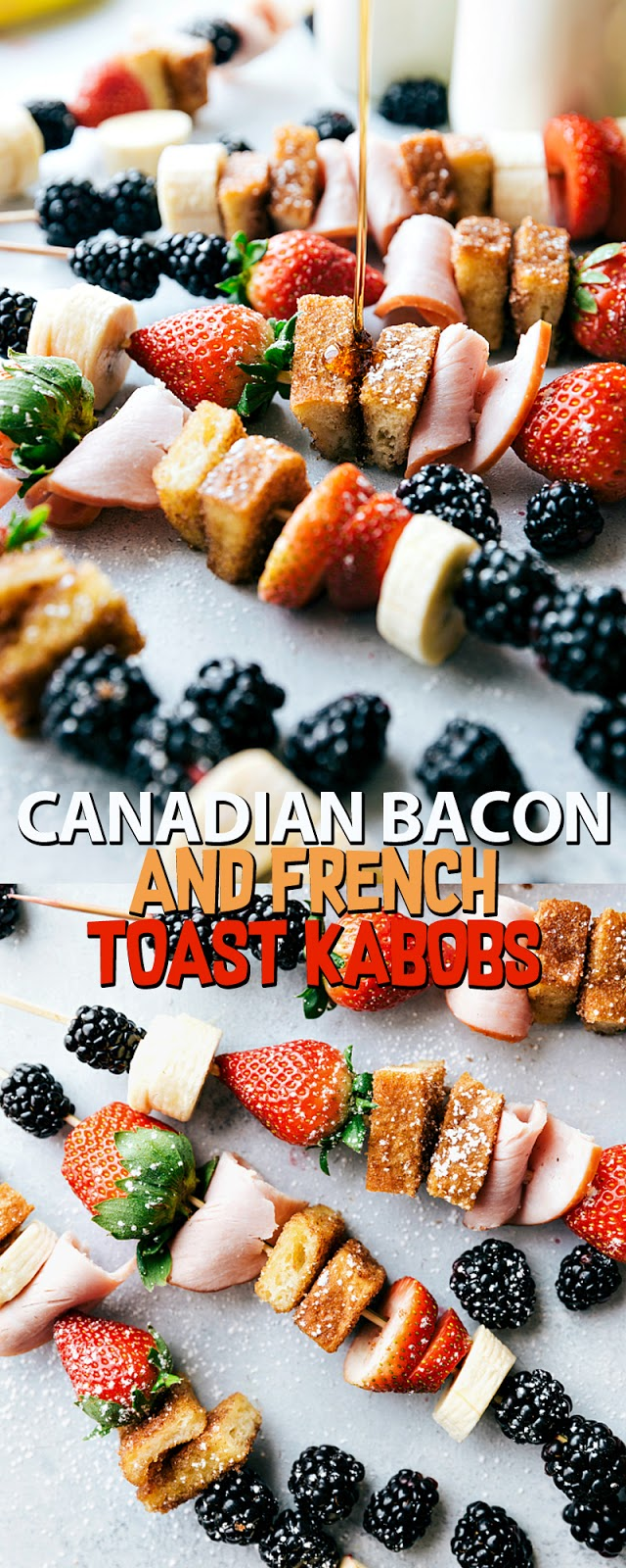 CANADIAN BACON AND FRENCH TOAST KABOBS