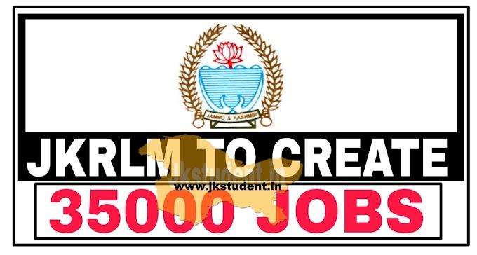 JKRLM to create over 35000 jobs in J&K under programme SAATH