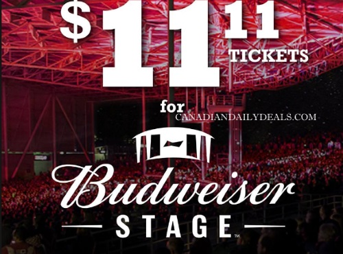 Pizza Pizza Budweiser Stage $11.11 concert tickets