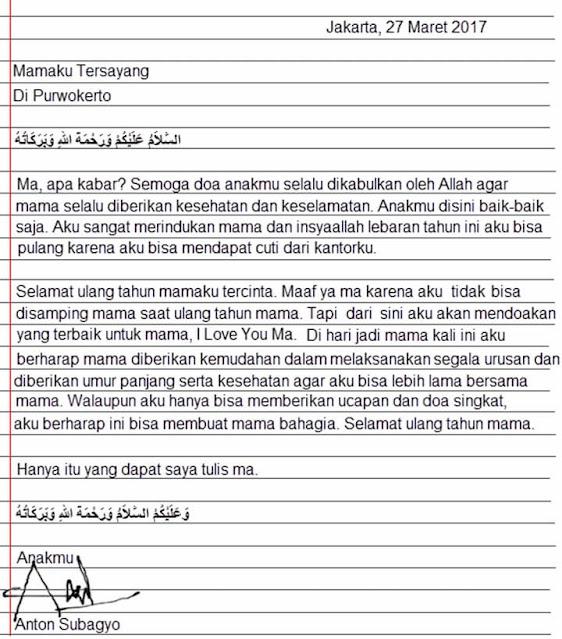 Contoh Surat Permohonan Pribadi (via: suratresmi.net)
