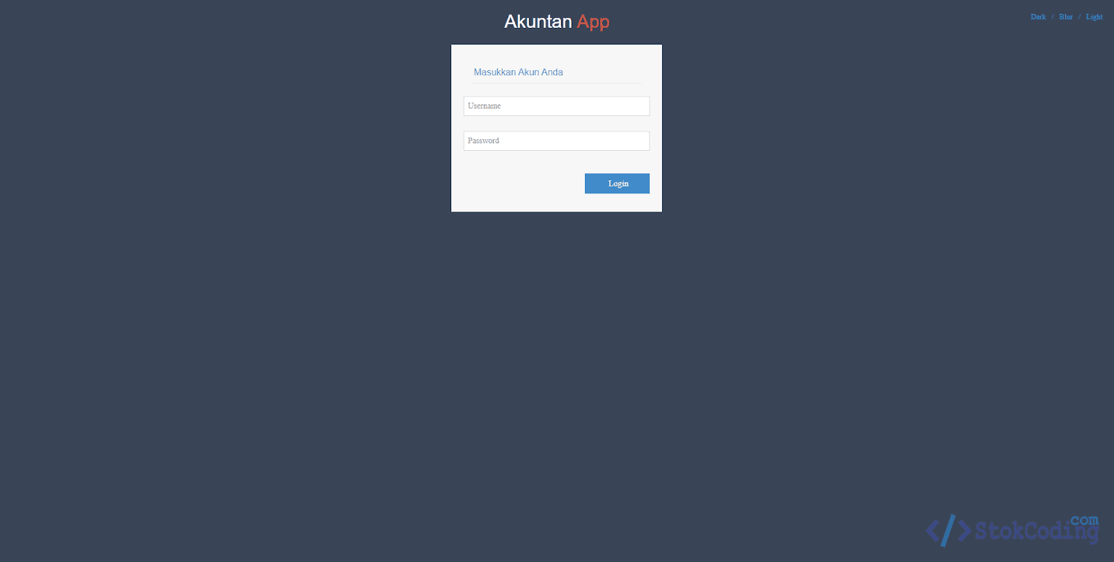 Aplikasi Akuntansi Berbasis Web (PHP)