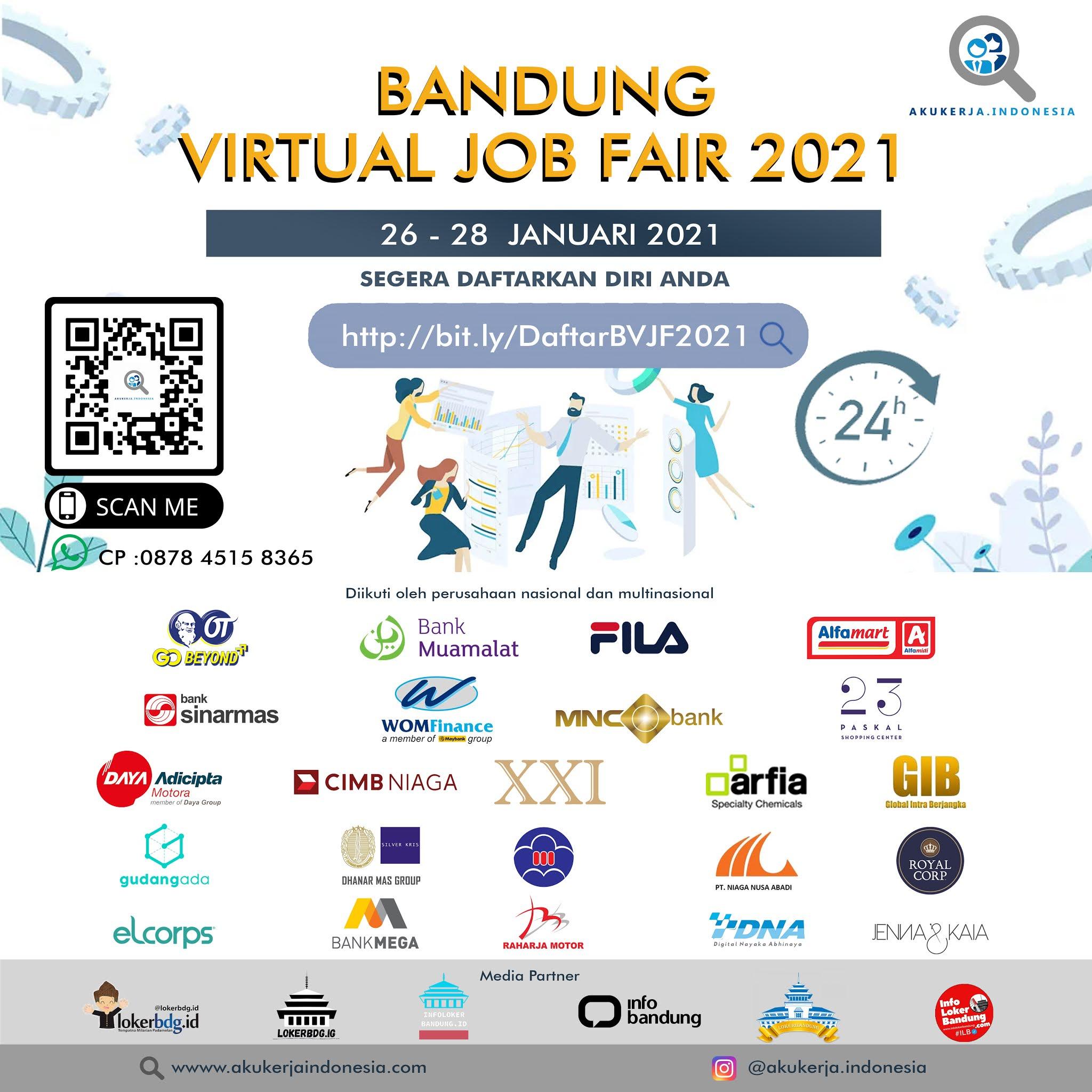 Bandung Virtual Job Fair  26 - 28 Januari 2021