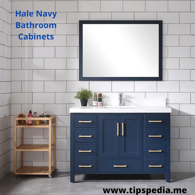hale navy bathroom cabinets