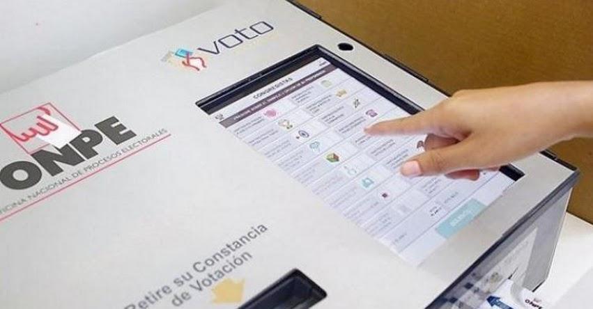 ONPE ampliará voto electrónico en estos cinco distritos de Lima: Miraflores, San Borja, Santiago de Surco, La Molina y San Isidro - www.onpe.gob.pe