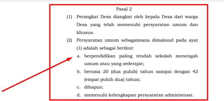 Syarat Pengangkatan Perangkat Desa Menurut Permendagri  Syarat Pengangkatan Perangkat Desa Menurut Permendagri 67/2017