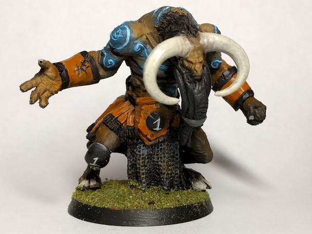 Finished Minotaur front view.