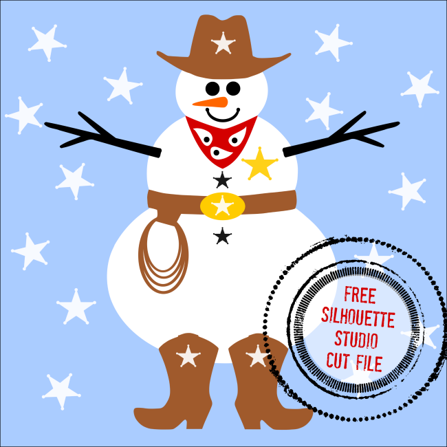 Free Silhouette Snowman Cowboy Design Silhouette School