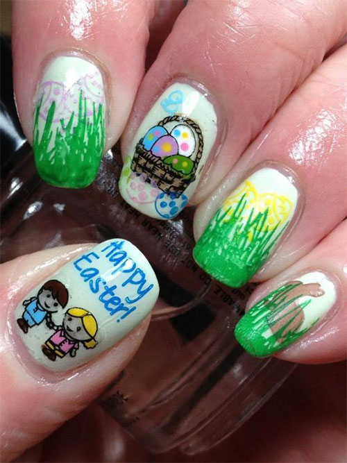 30 Best Easter Egg Nail Art Designs & Ideas 2019