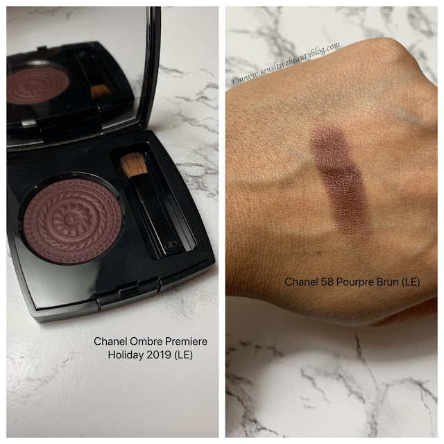 Chanel Ombre Premiere 58 Pourpre Brun swatch on dark skin