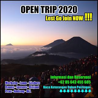 Open Trip Sindoro Februari Maret April Mei Juni Juli Agustus September Oktober November Desember 2020
