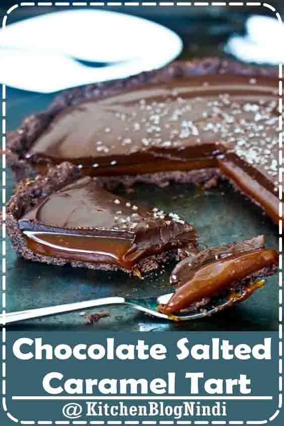Chocolate Salted Caramel Tart #Chocolate #Salted #CaramelTart