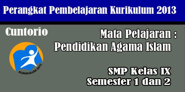 RPP PAI SMP Kelas 7,8 dan 9 Kurikulum 2013