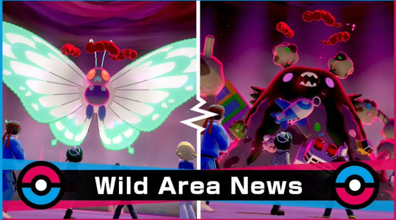 Pokémon Sword e Shield Evento Wild Area Tipo Inseto Venenoso