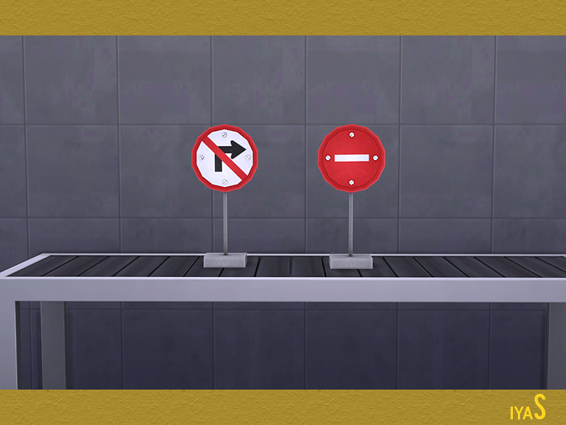 Soloriya Road Signs Sims 4