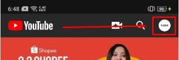 Halaman Utama Aplikasi YouTube