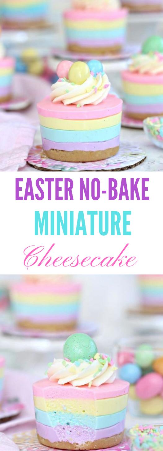 EASTER NO-BAKE MINI CHEESECAKES #mini #dessert