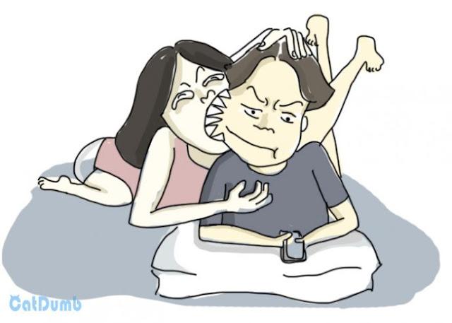 7 иллюстраций о противных вещах, которая делает каждая пара