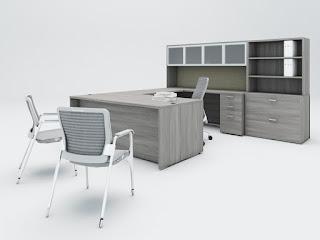 Amber Valley Gray Desk
