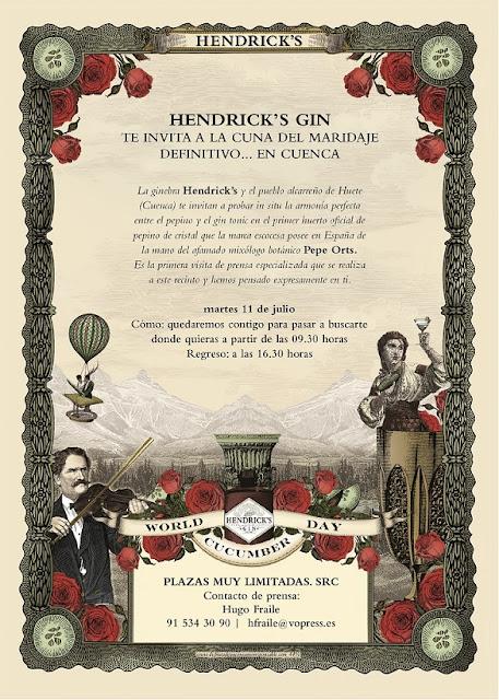 HENDRICK'S GIN TE INVITA A LA CUNA DEL MARIDAJE DEFINITIVO
