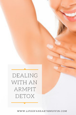 pinterest graphic about armpit detox