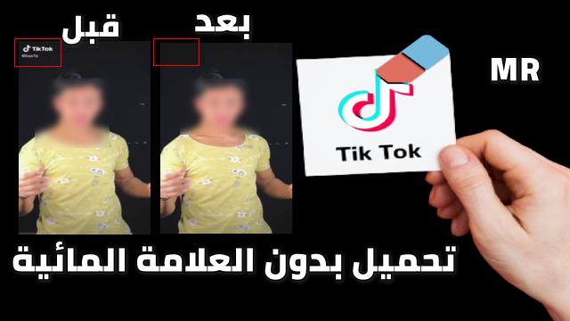 كيفية تنزيل فيديو من تيك توك و ازالة العلامة المائية Tik Tok
