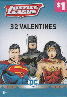 Front of the Justice League 32 Valentines box
