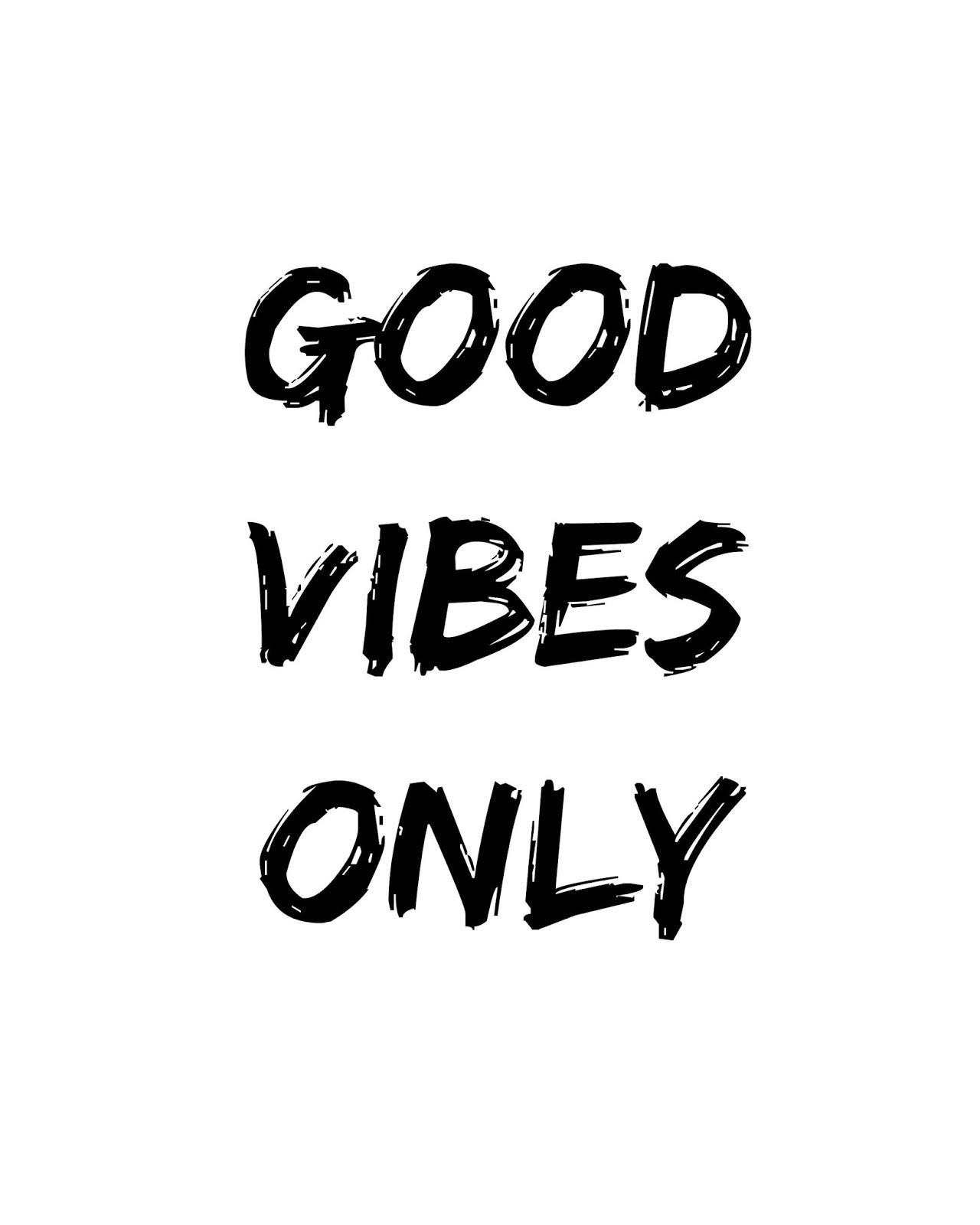 CJO Photo: Printable Black and White Art 8x10: Good Vibes Only