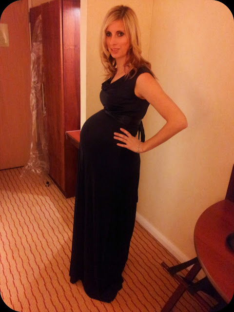 33 weeks pregnant, tiffany rose dress, maternity wear, huge pregnant bump