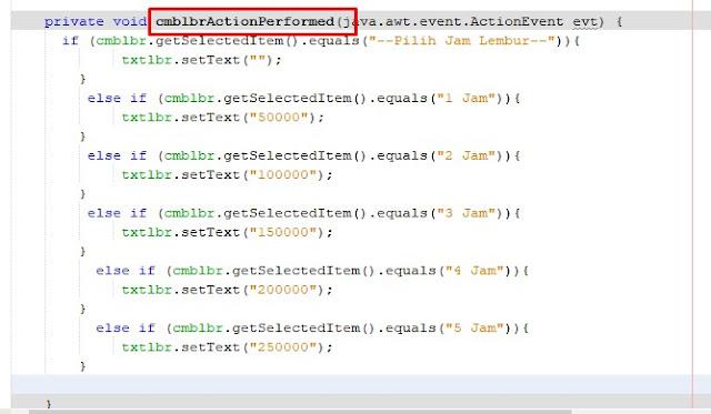 script program penggajian karyawan dengan java netbeans menggunakan jframe