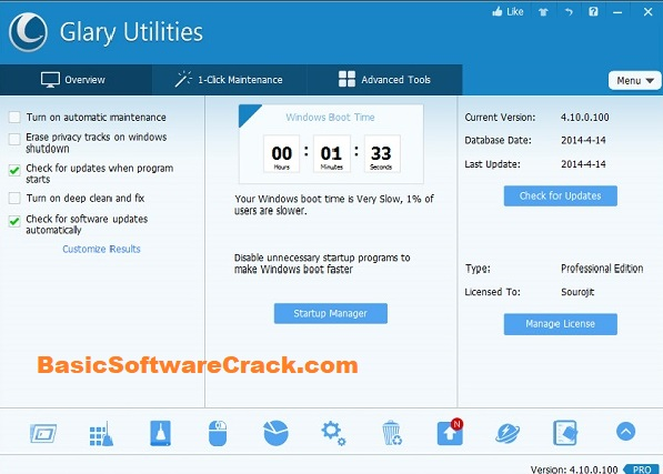 Glary.Utilities.Pro.5 With Crack Free Download Key