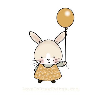 Easy bunny drawing. Easy animals to draw. Cute bunny