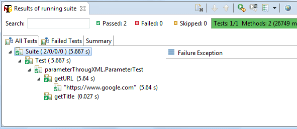 Parameterization in TestNG using TestNG XML file