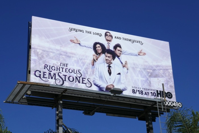 Righteous Gemstones series premiere billboard