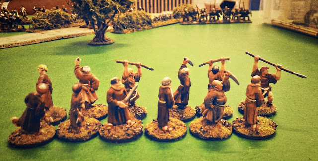 The Angry Monks advance