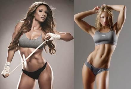 Mujeres con poco nivel de grasa corporal