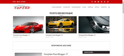 Top Car Blogger Template