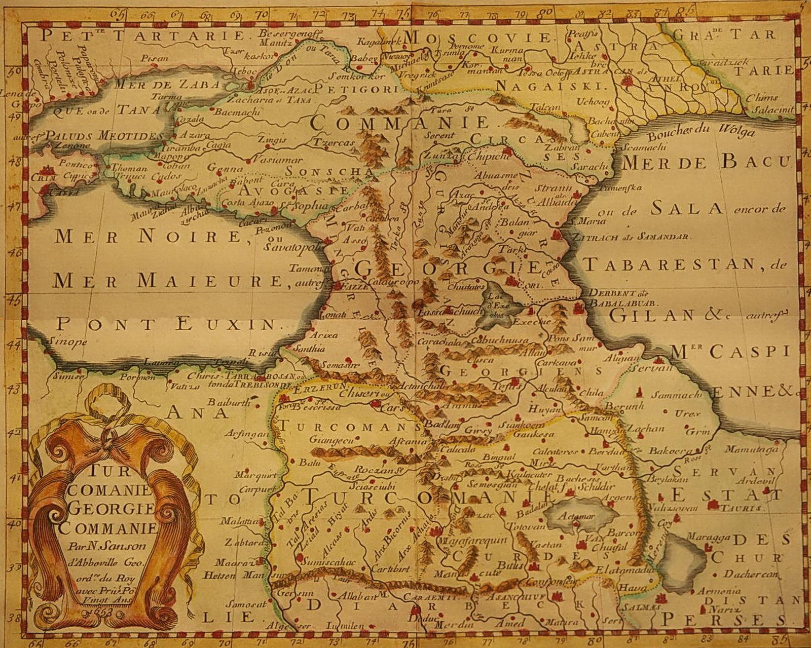 Расселение Куман (карачаевцы,балкарцы, кумыки) в 17 веке