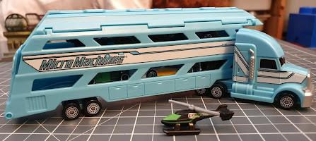 Micro Machines Hauler vehicle transporter full of vehicles