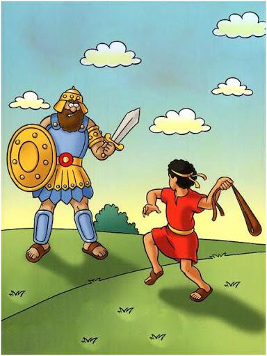 Davi e Golias historia infantil