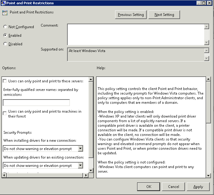 Nerdy Notes: Windows Vista/7 Printer deployment via GPP