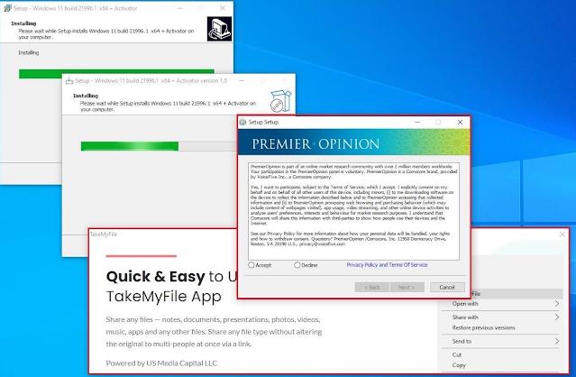 يتم استخدام مثبتات Windows 11 الوهمية لنشر البرامج الضارة