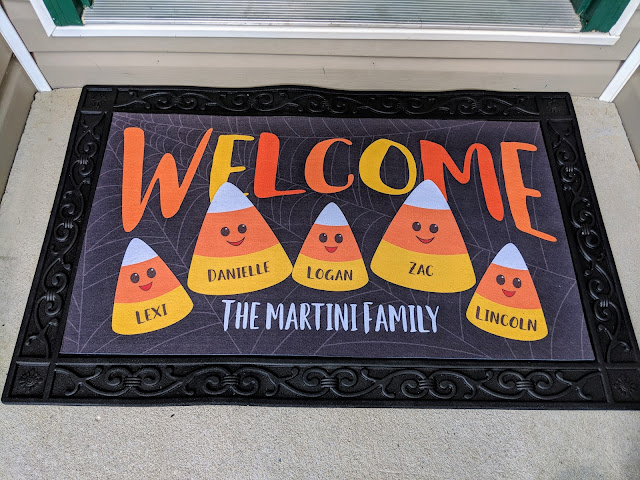 fall decor, personalized decor, personalized fall decor, personalized door mat, fall door mat, Halloween door mat, interchangeable door mat, outdoor decor, Halloween decor