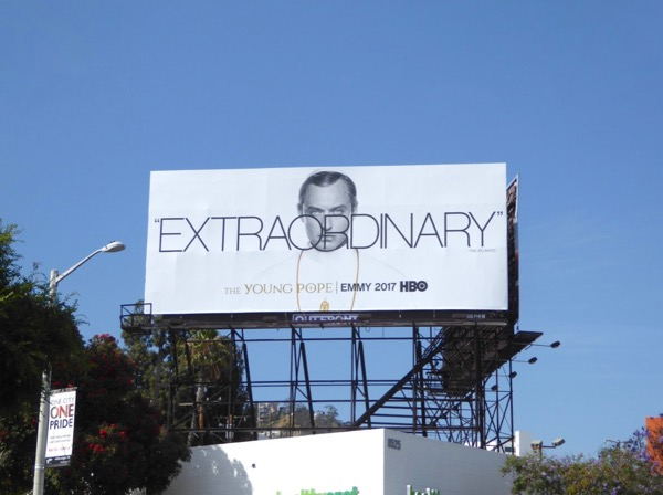 Young Pope HBO 2017 Emmy FYC billboard